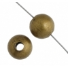 Metal Bead Round 3mm Antique Gold